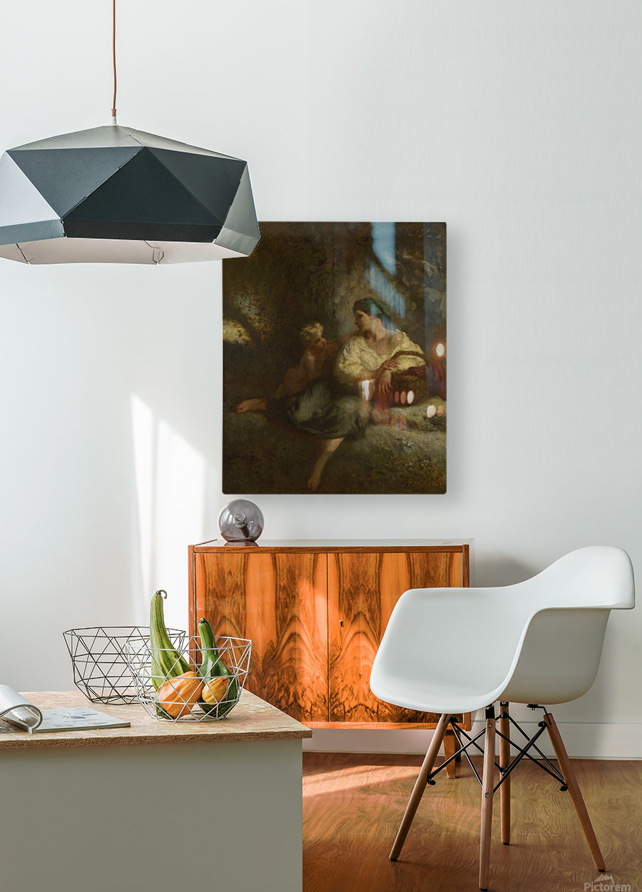 Whispering  HD Metal print with Floating Frame on Back