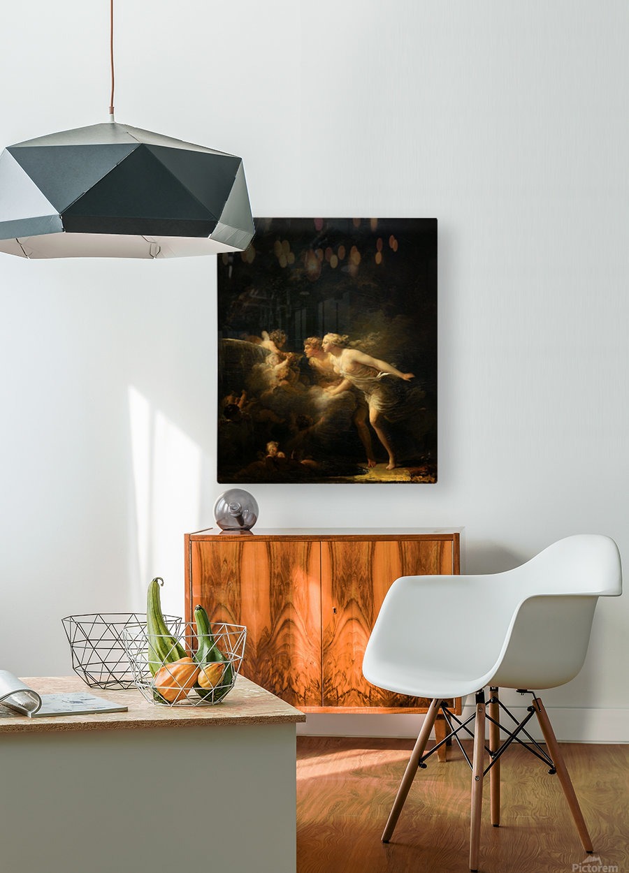 La fontaine d'amour  HD Metal print with Floating Frame on Back