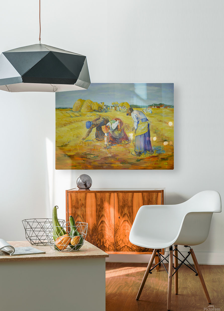The gleaners  HD Metal print with Floating Frame on Back