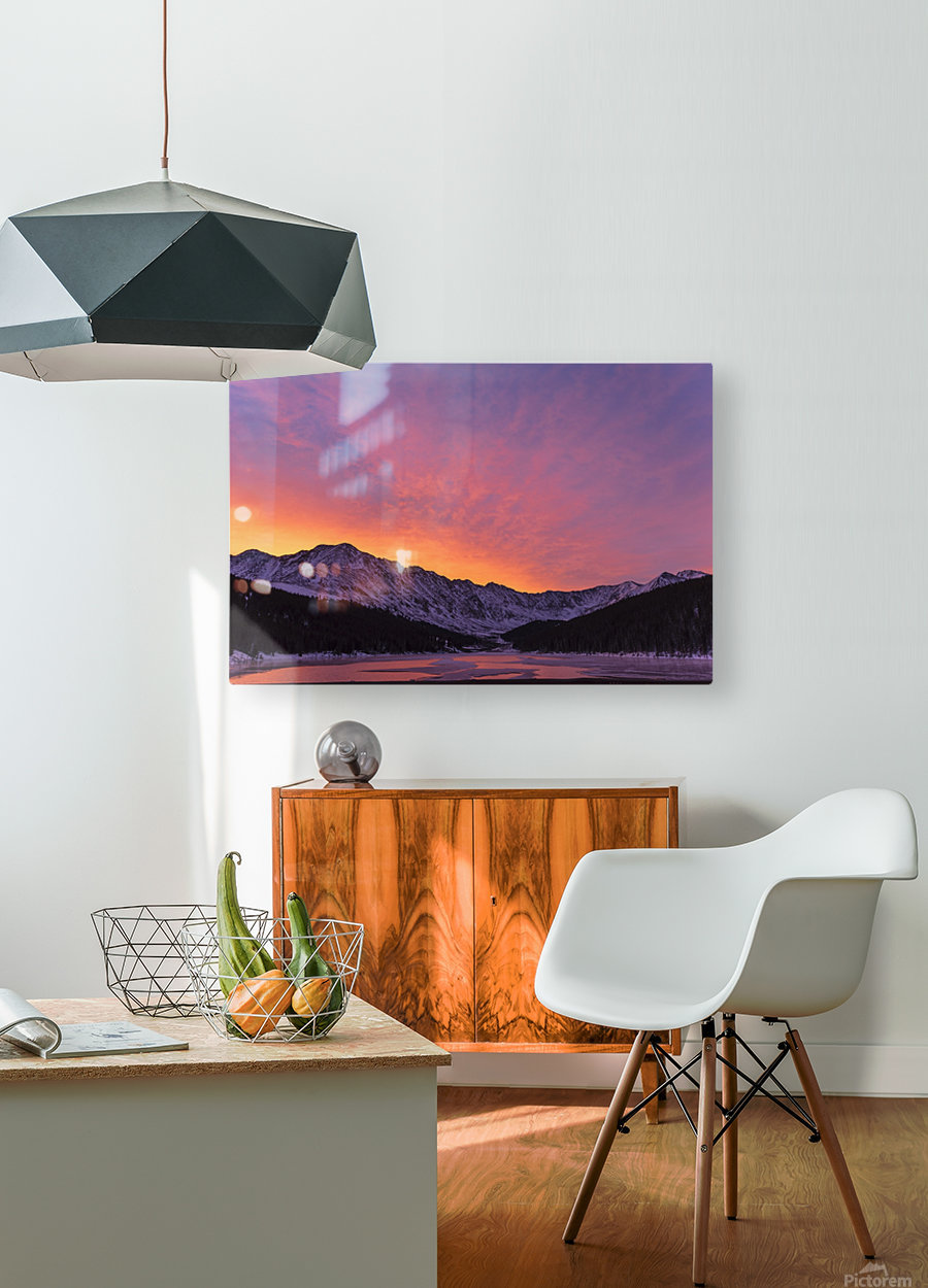 Clinton Gulch  HD Metal print with Floating Frame on Back