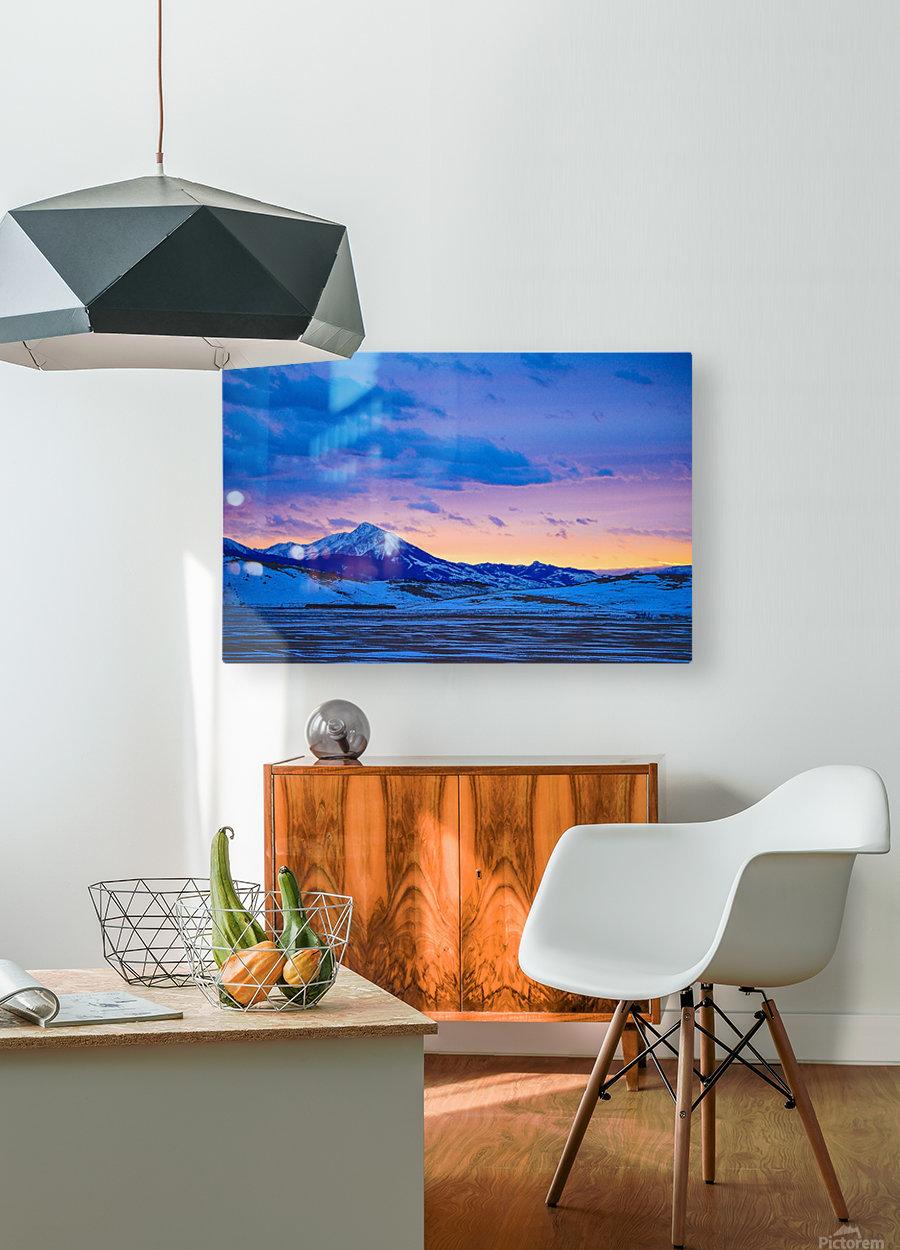 Emigrant Peak  HD Metal print with Floating Frame on Back