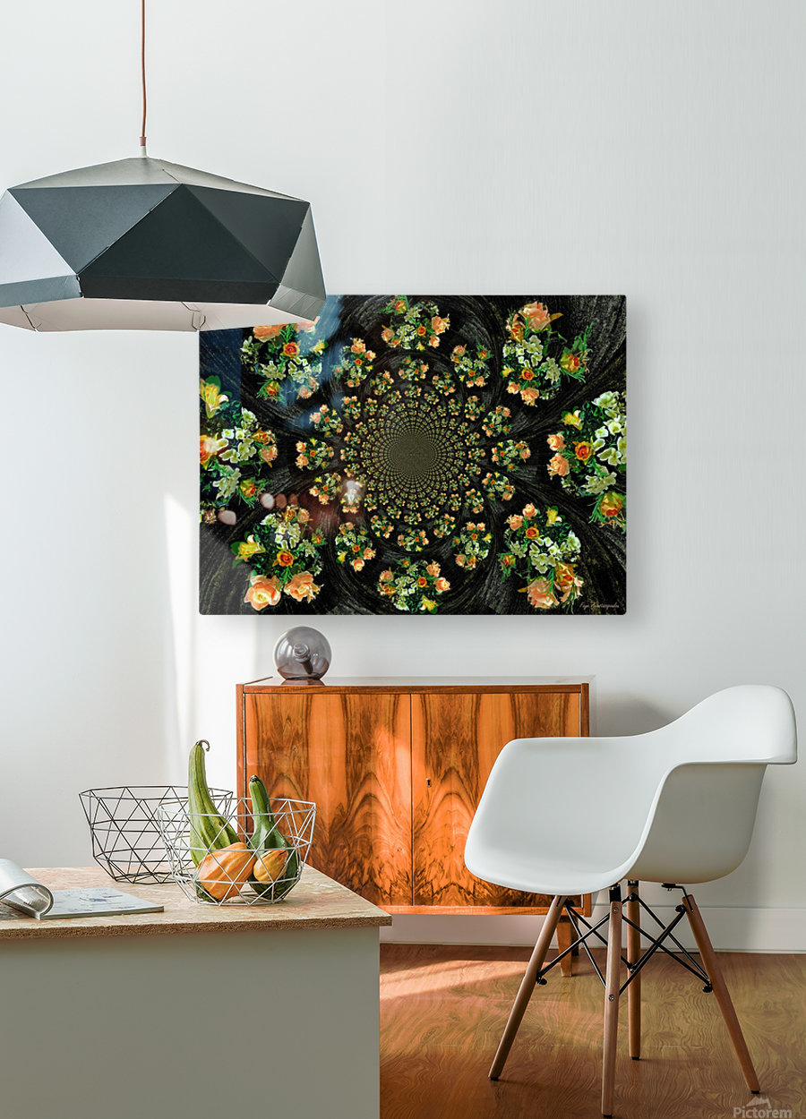 Floral Creation  HD Metal print with Floating Frame on Back