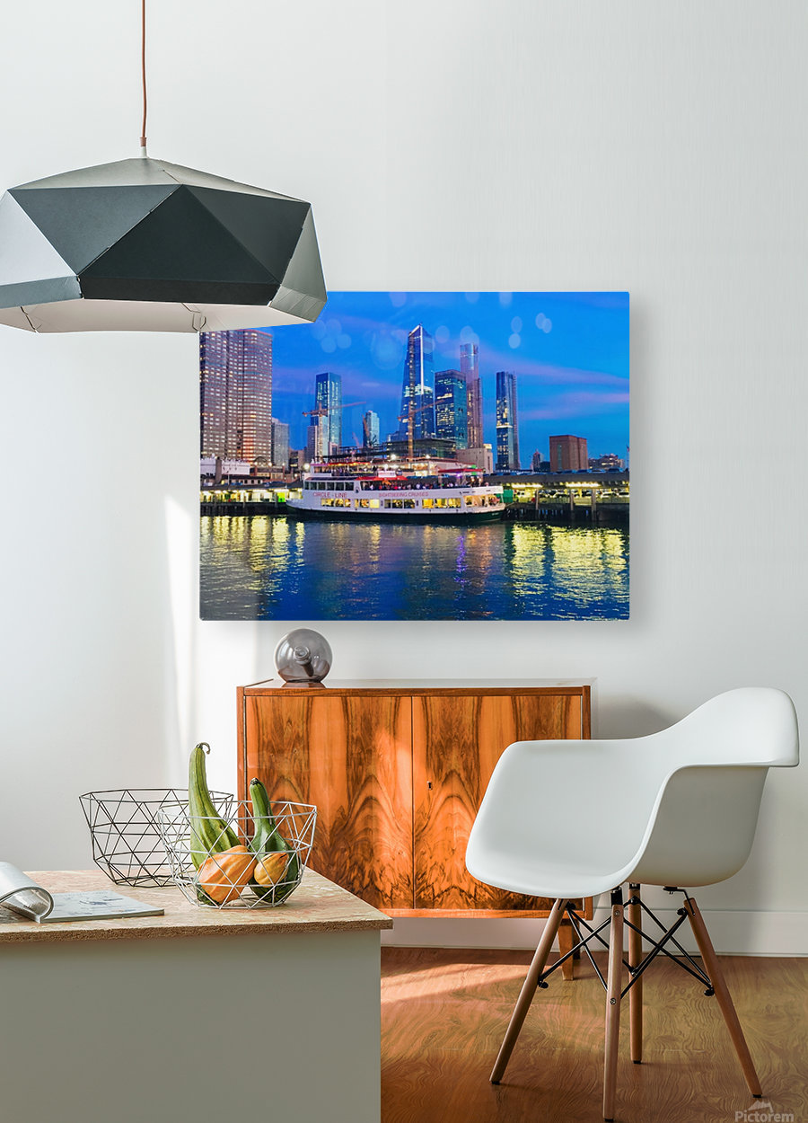 Bluesky  HD Metal print with Floating Frame on Back