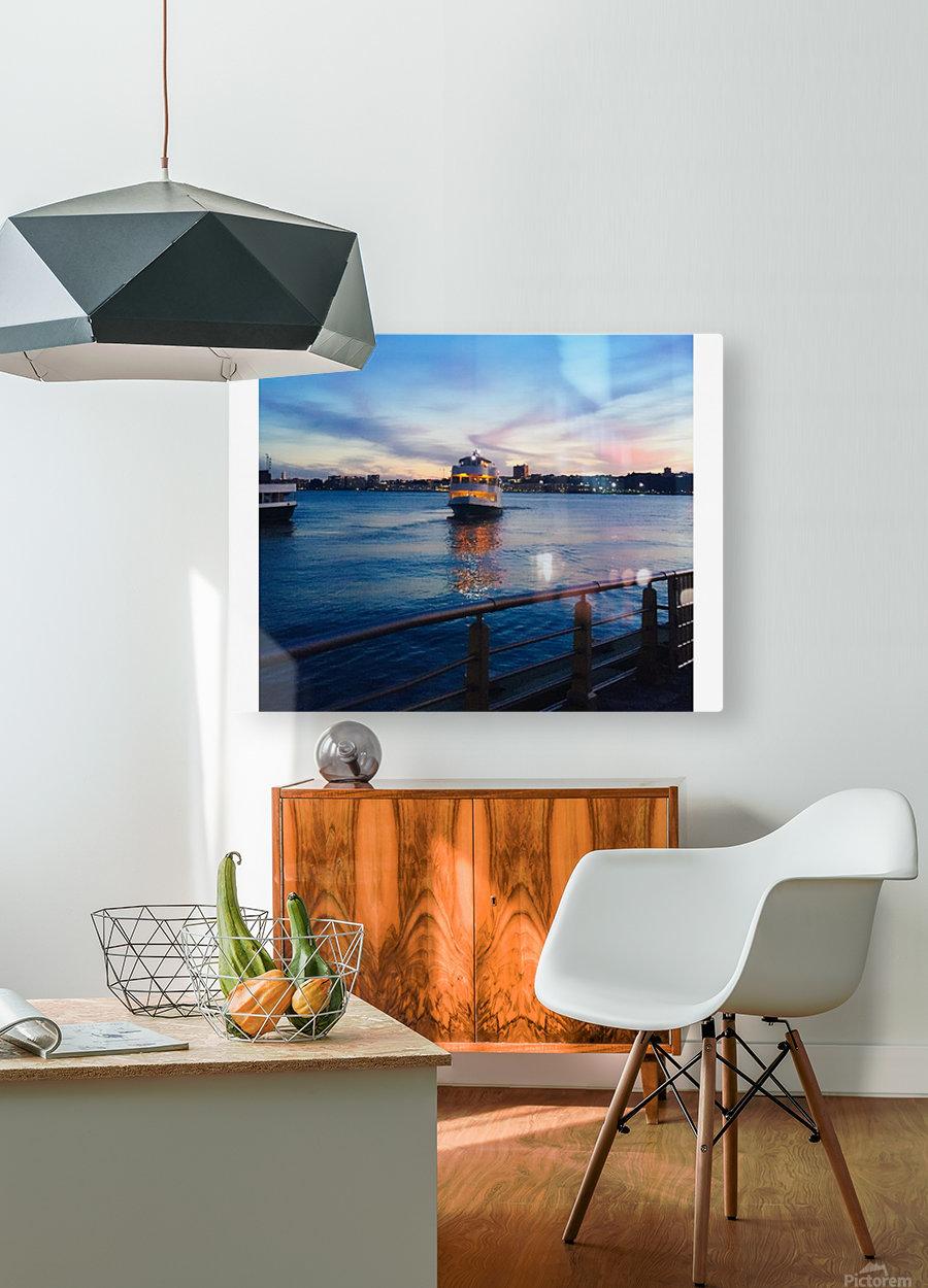 Sky & Sea  HD Metal print with Floating Frame on Back