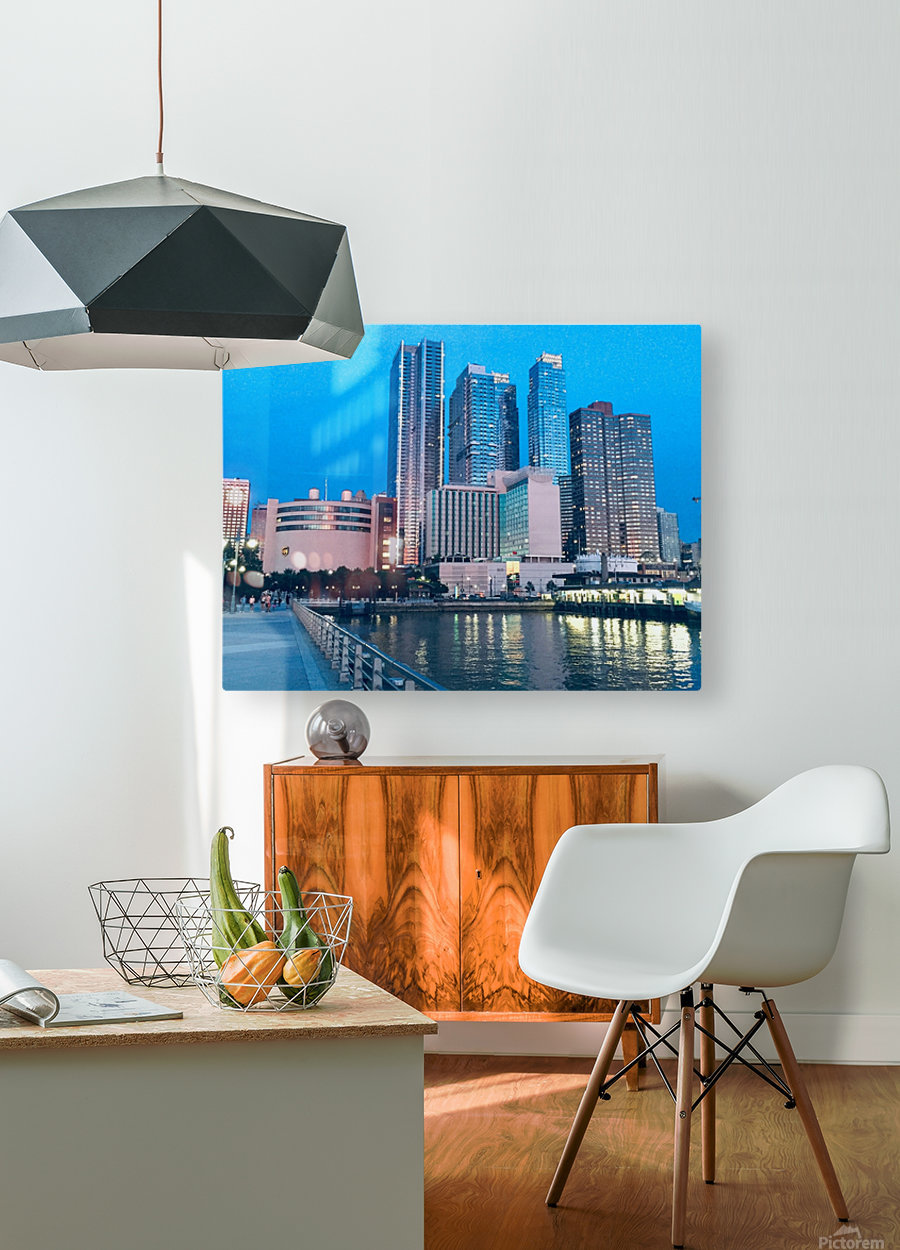 Shining Night   HD Metal print with Floating Frame on Back