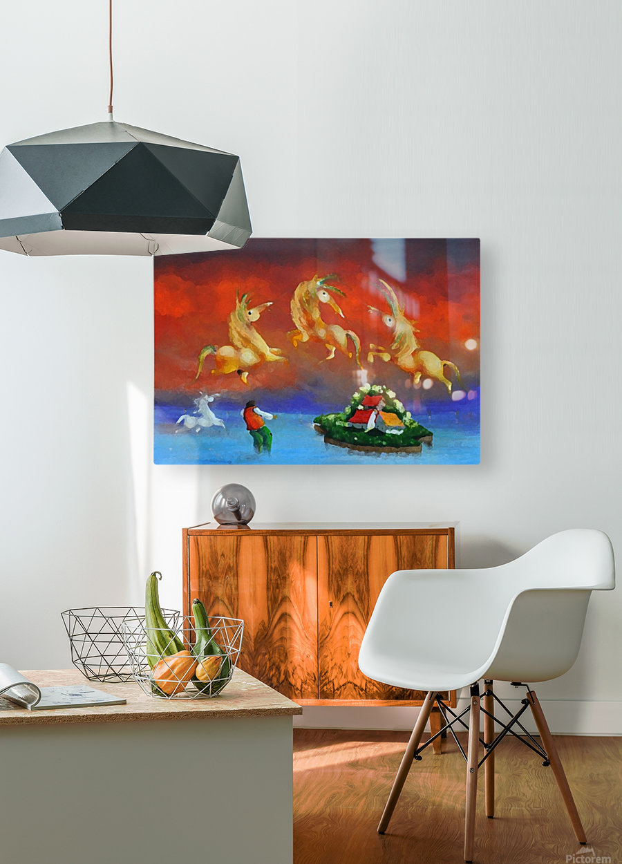 The Island Catcher  HD Metal print with Floating Frame on Back