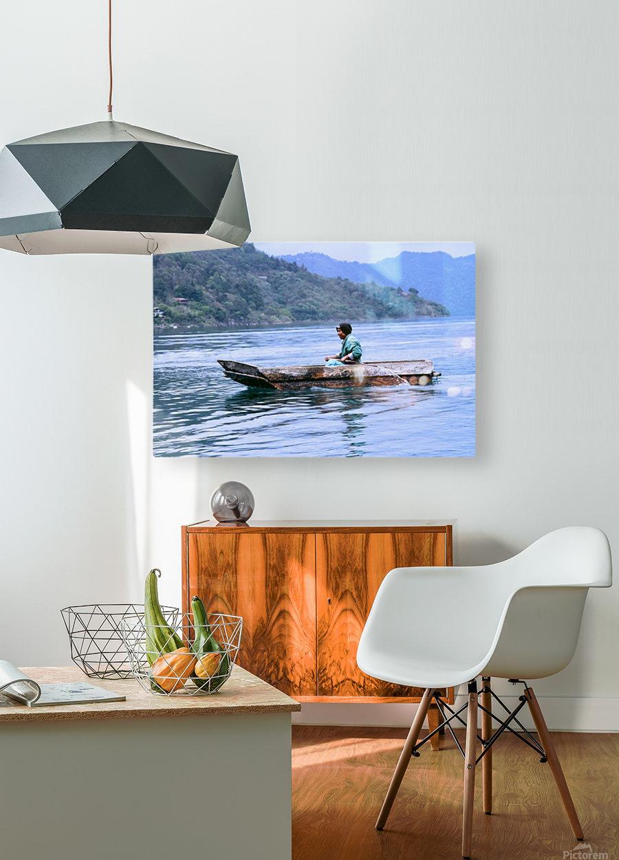 En Lago de Atitlan, Guatemala  HD Metal print with Floating Frame on Back