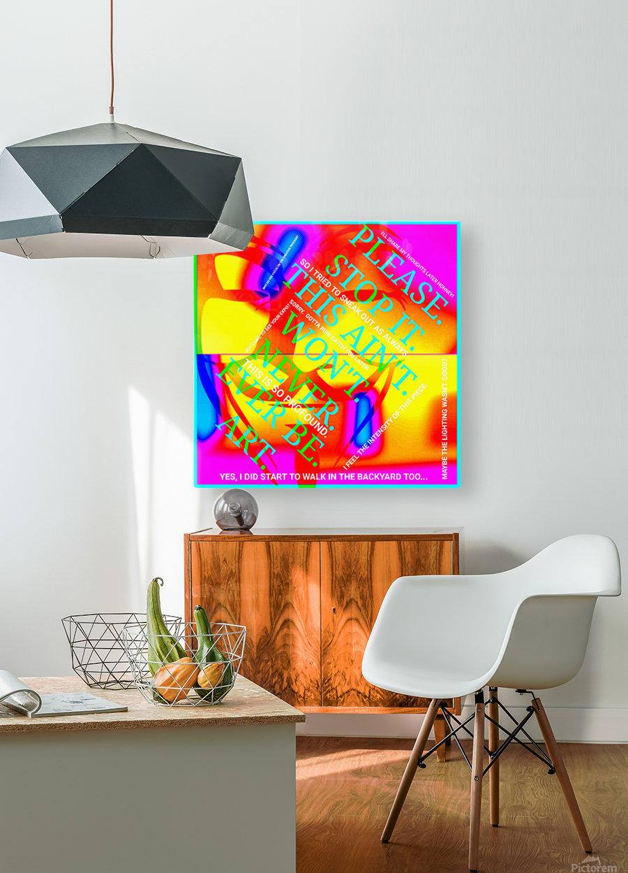 Collagène   HD Metal print with Floating Frame on Back