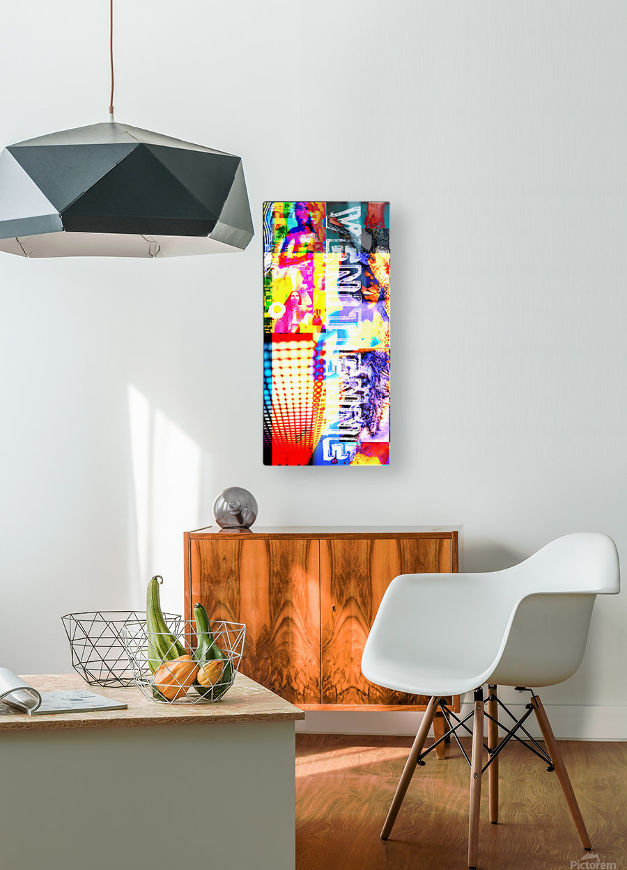 ACRONYMES POUR LA PAIX  HD Metal print with Floating Frame on Back