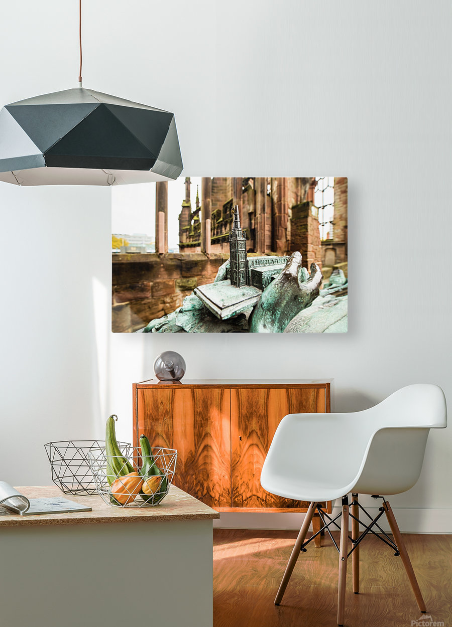 Coventry Bee  HD Metal print with Floating Frame on Back