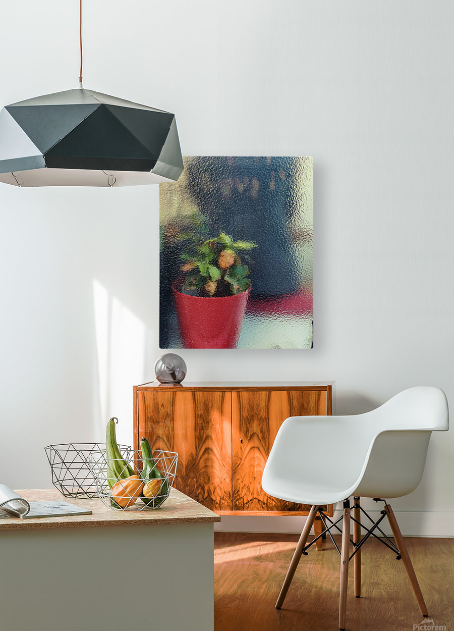 Flowers painting   HD Metal print with Floating Frame on Back