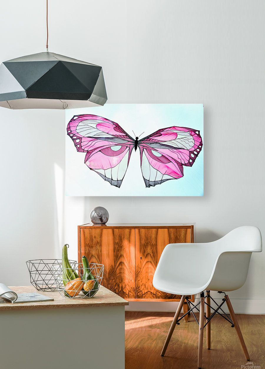 Papillon  HD Metal print with Floating Frame on Back