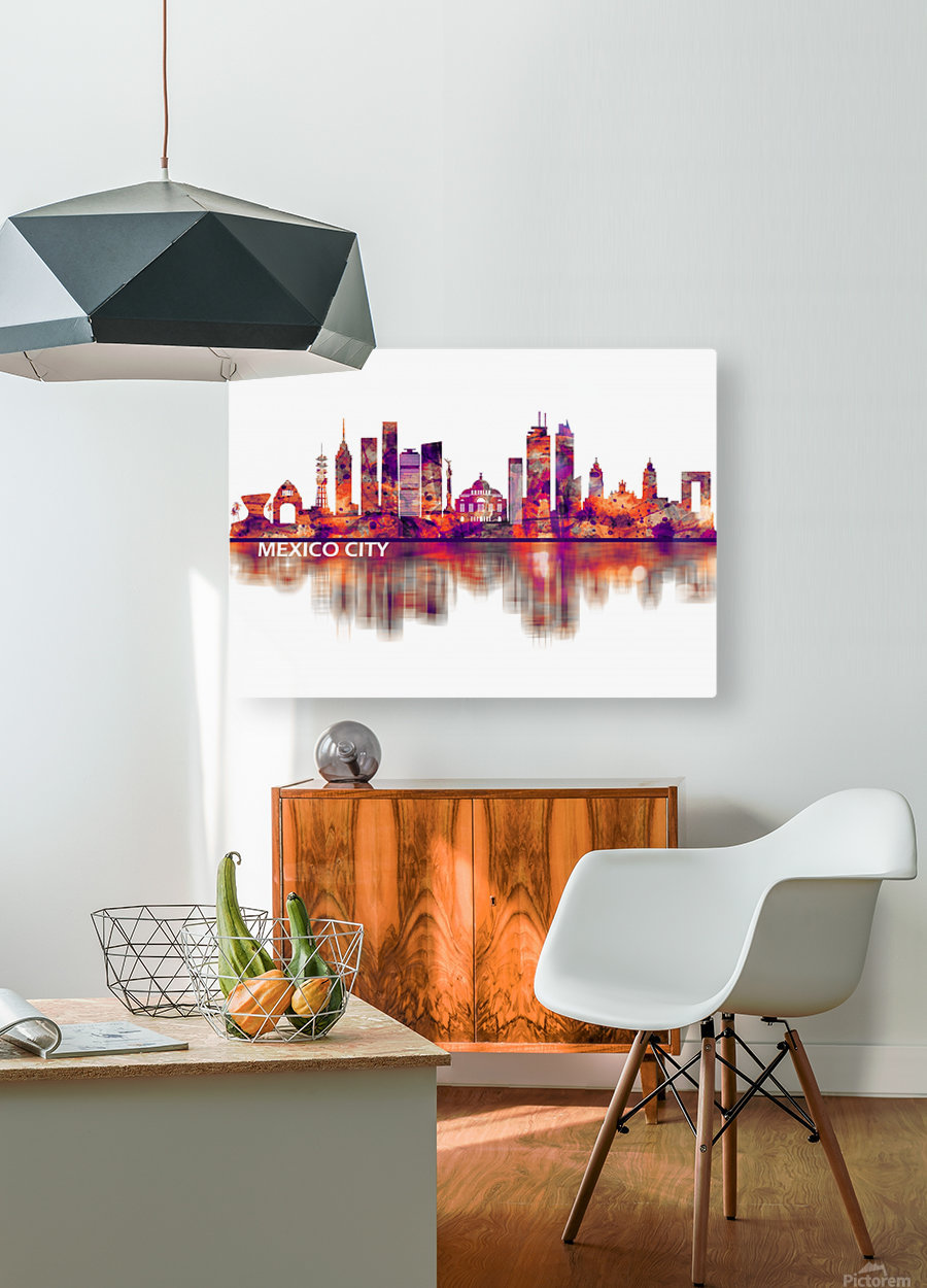 Mexico City Mexico Skyline  HD Metal print with Floating Frame on Back