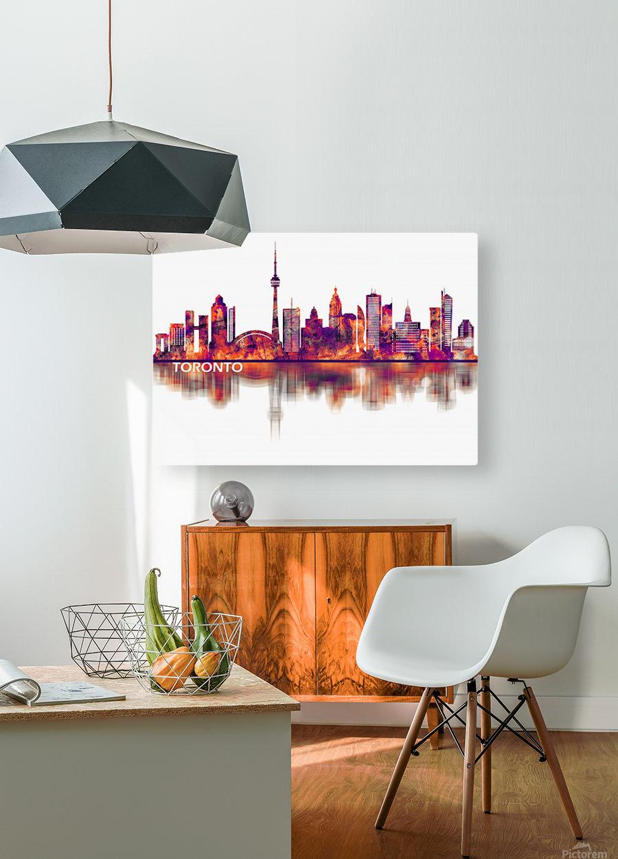 Toronto Canada Skyline  HD Metal print with Floating Frame on Back