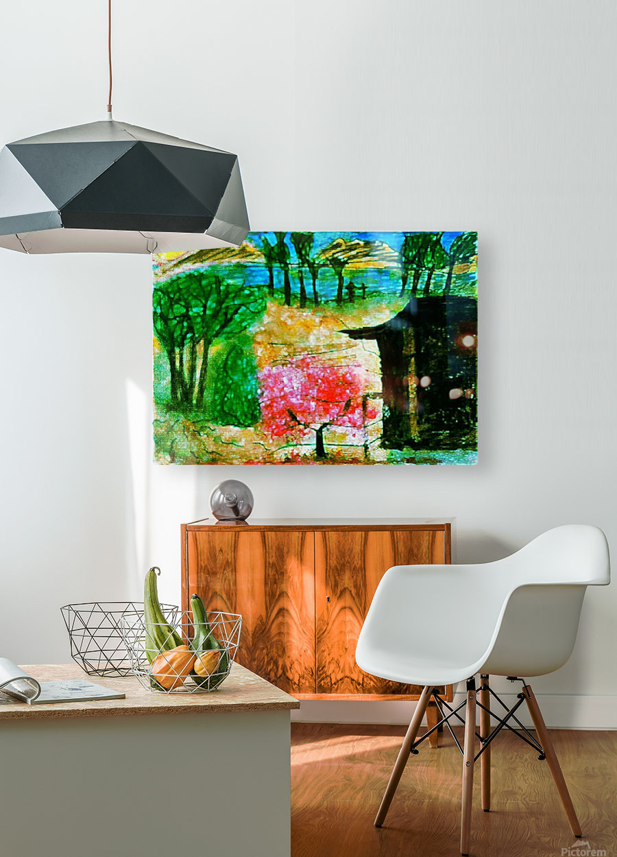 Promesa  HD Metal print with Floating Frame on Back