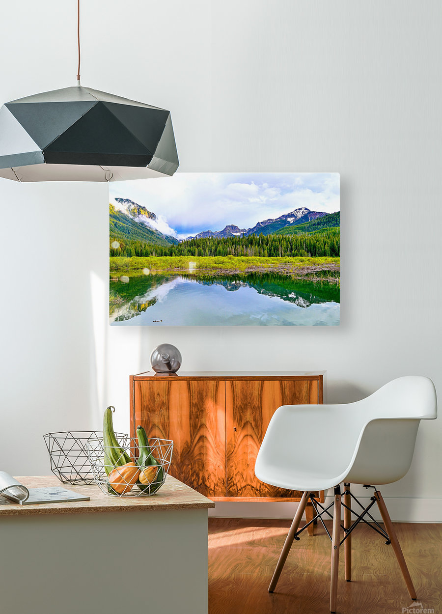 Hyalite  HD Metal print with Floating Frame on Back