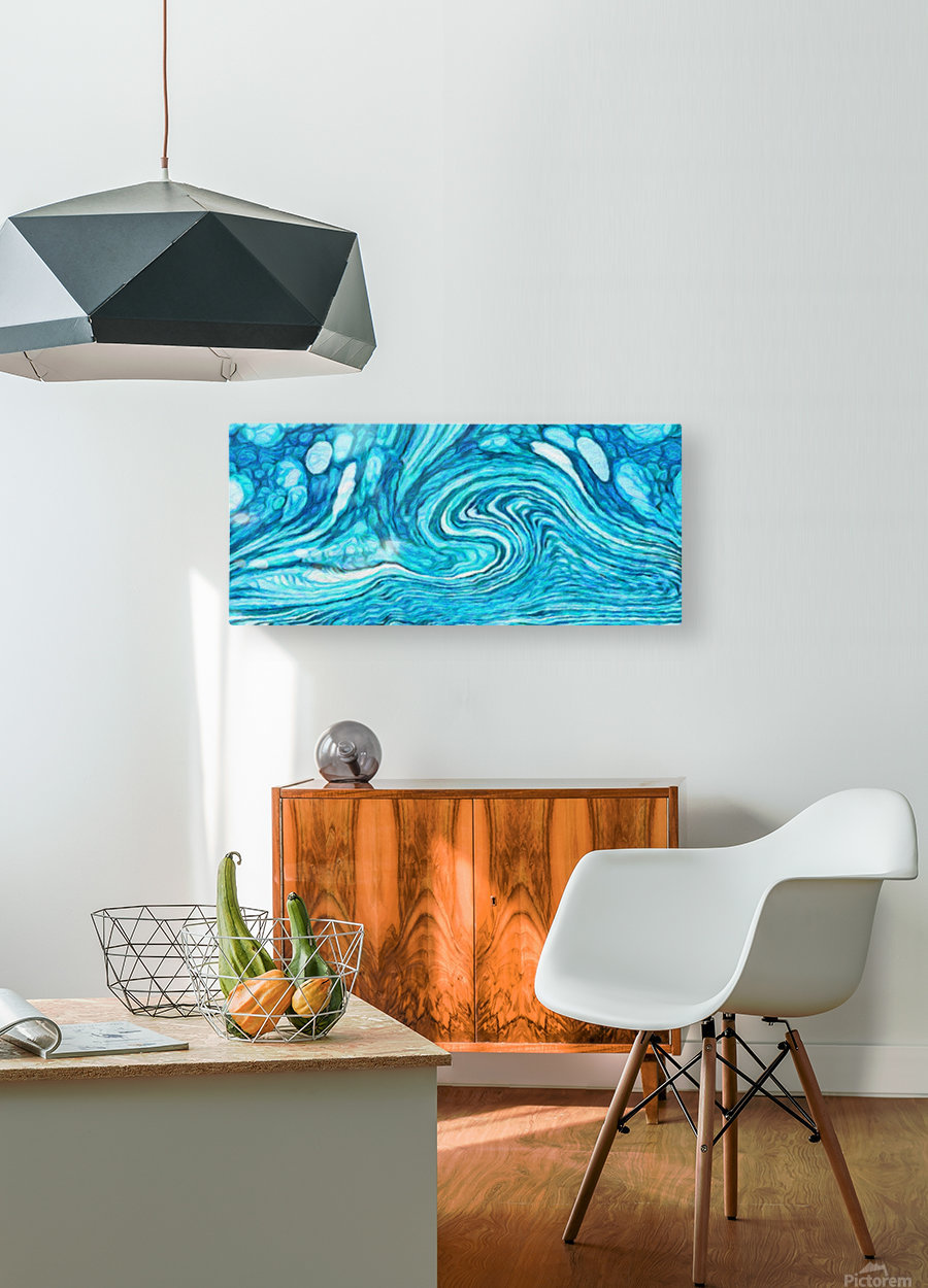 Wave DAY  HD Metal print with Floating Frame on Back