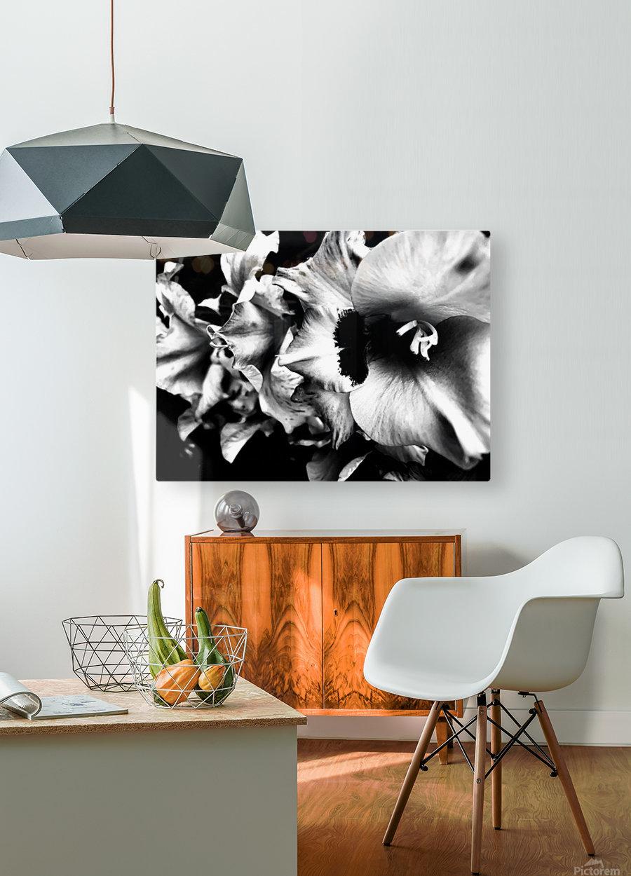 Black Divine   Impression métal HD avec cadre flottant sur le dos