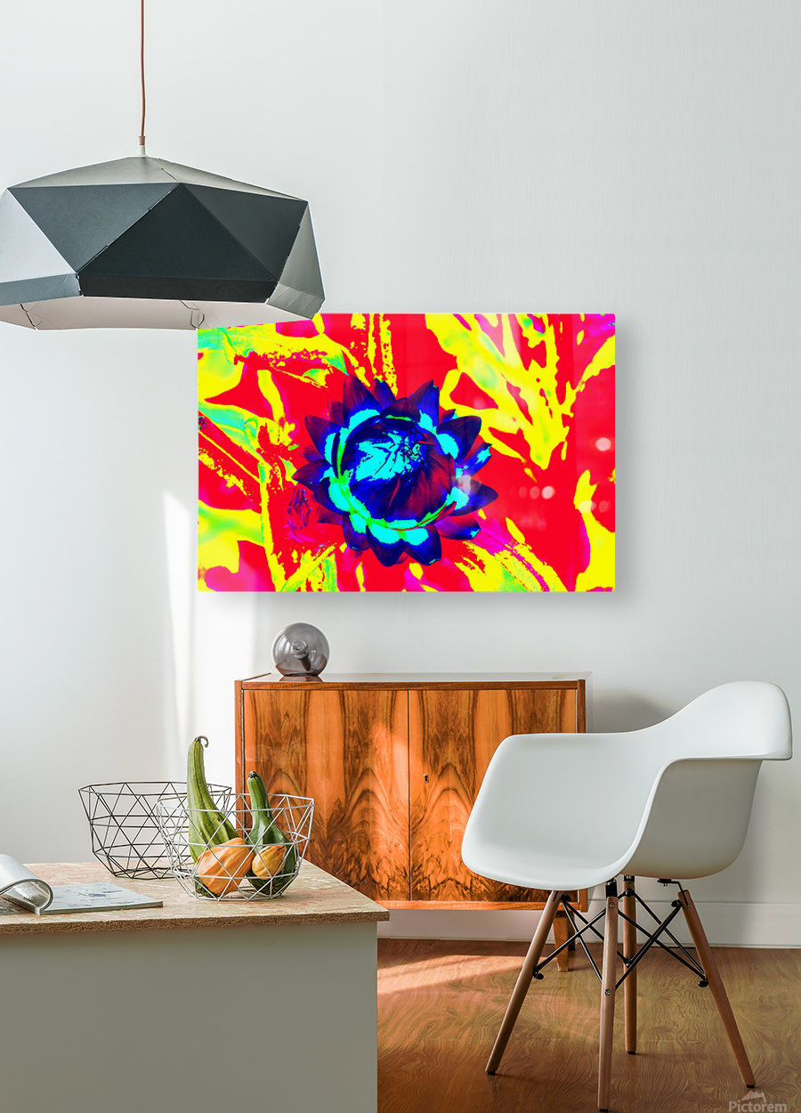 Graphic Flower Effect 2  HD Metal print with Floating Frame on Back