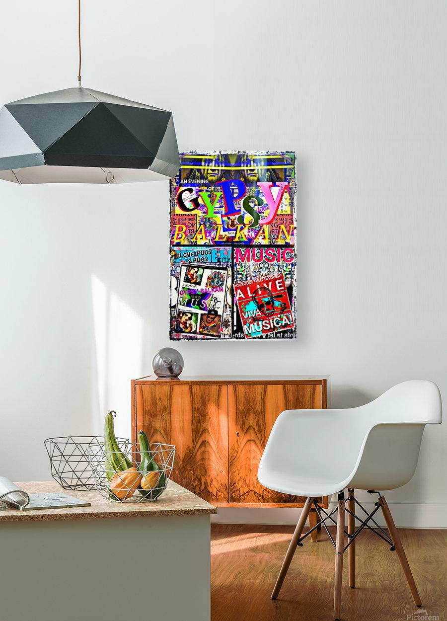 MY LEGENDARY VINTAGE POSTER  HD Metal print with Floating Frame on Back