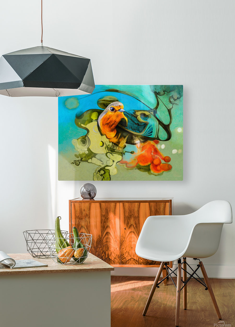Bird of the nest  HD Metal print with Floating Frame on Back