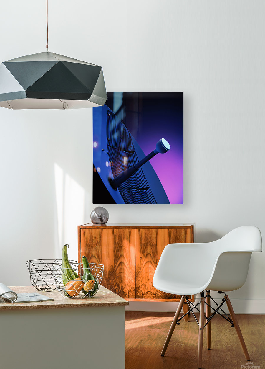 Blue Antenna  HD Metal print with Floating Frame on Back
