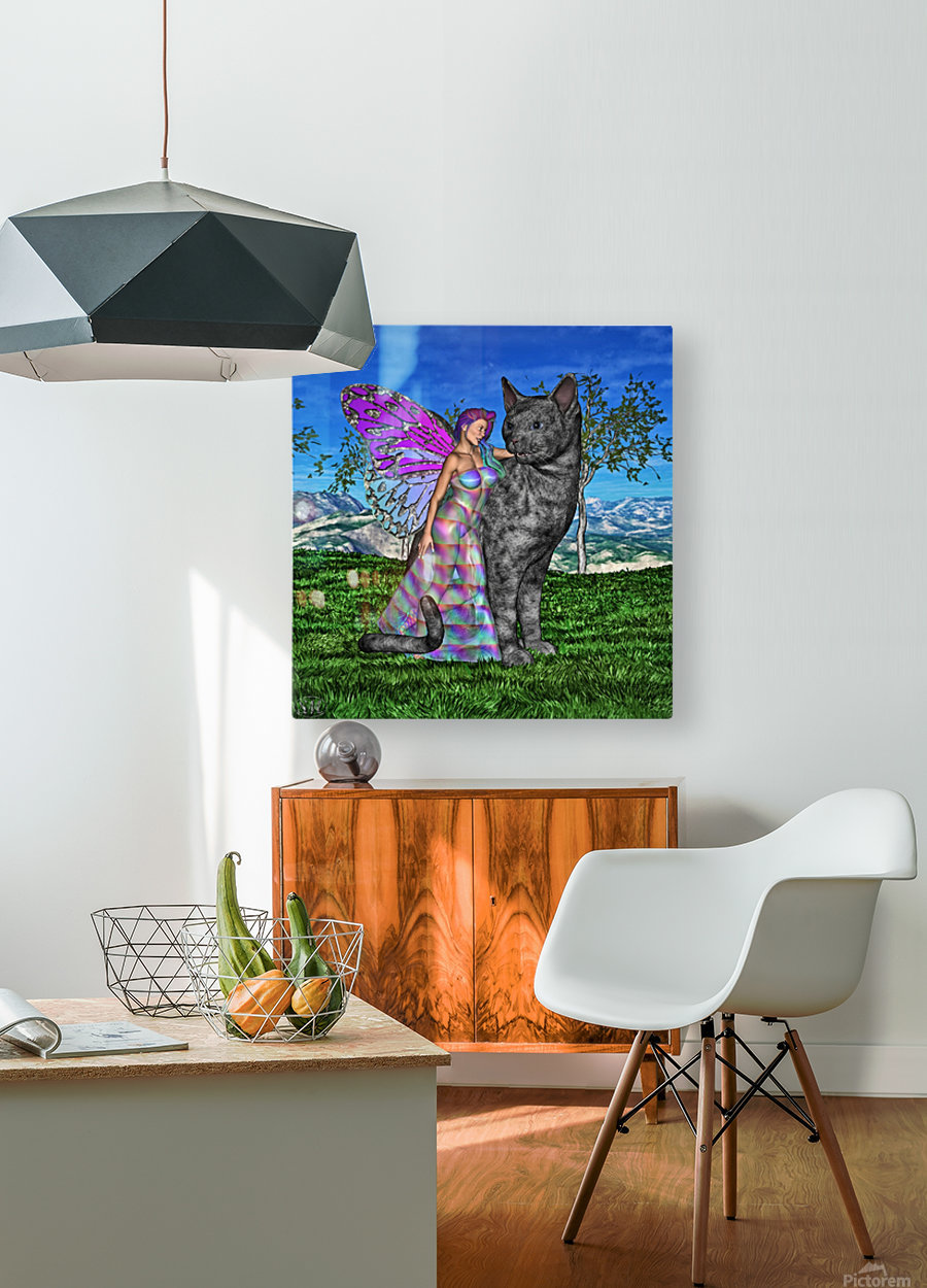 Fae Friends  HD Metal print with Floating Frame on Back