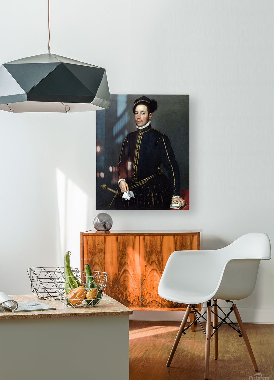 Portrait of a Gentleman ('Il Gentile Cavaliere')  HD Metal print with Floating Frame on Back