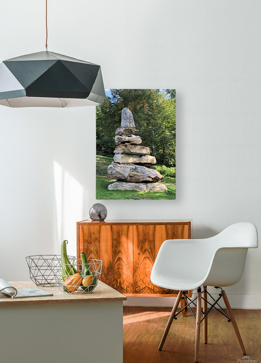 Stacked Stones  HD Metal print with Floating Frame on Back