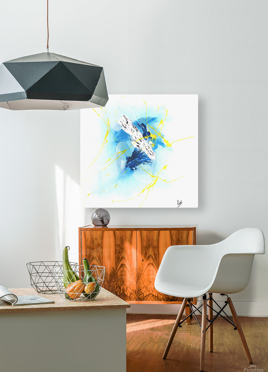 IMPULSION  HD Metal print with Floating Frame on Back