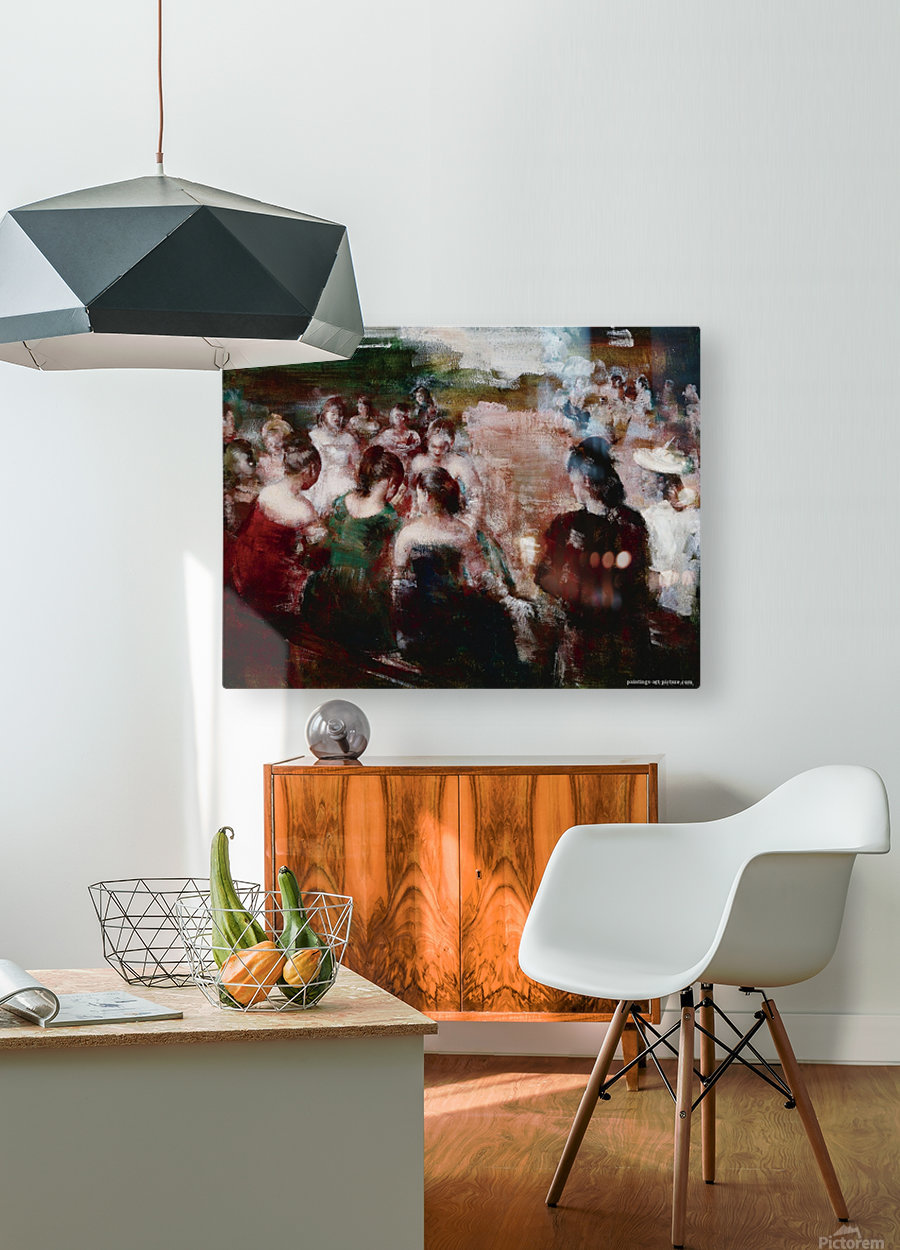 Social Circle  HD Metal print with Floating Frame on Back
