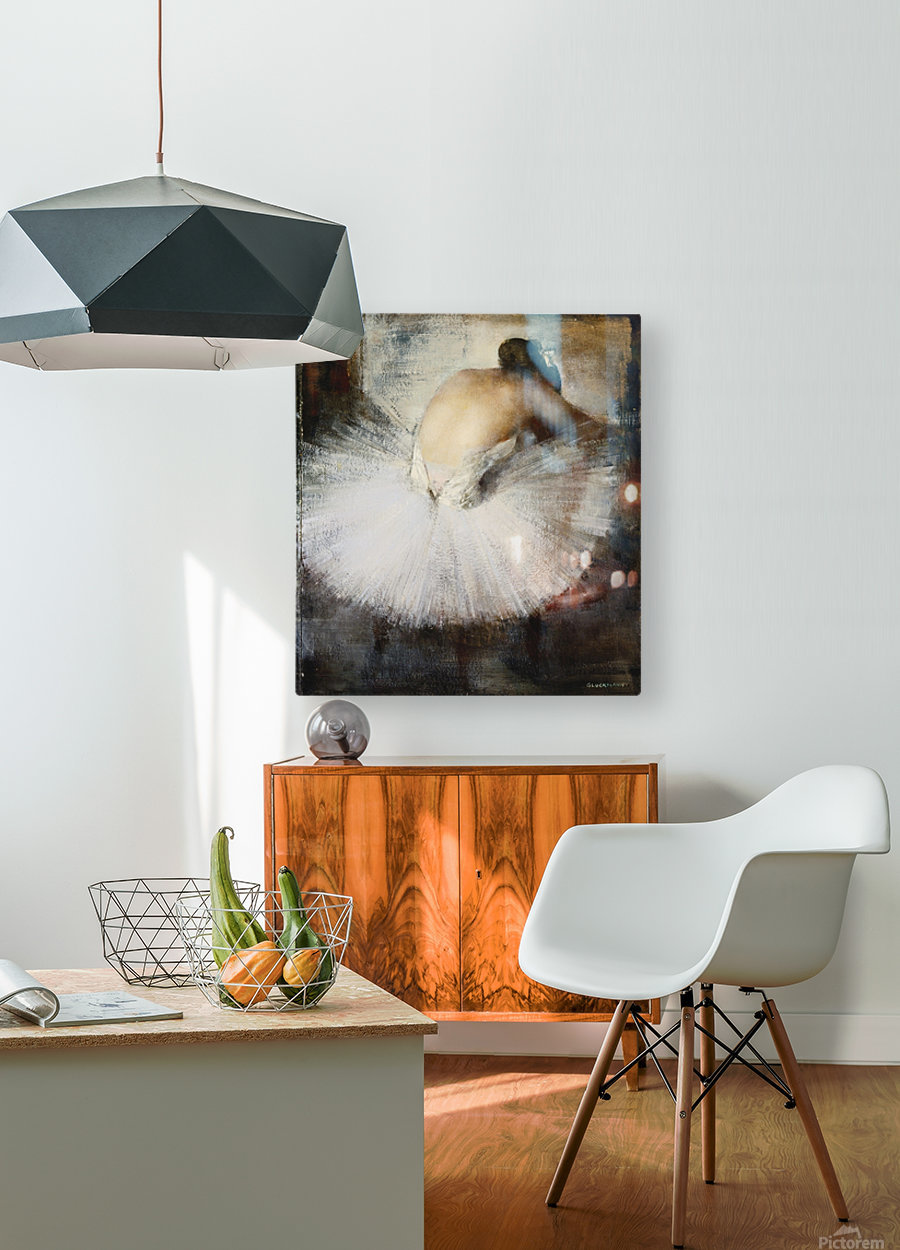The Break  HD Metal print with Floating Frame on Back