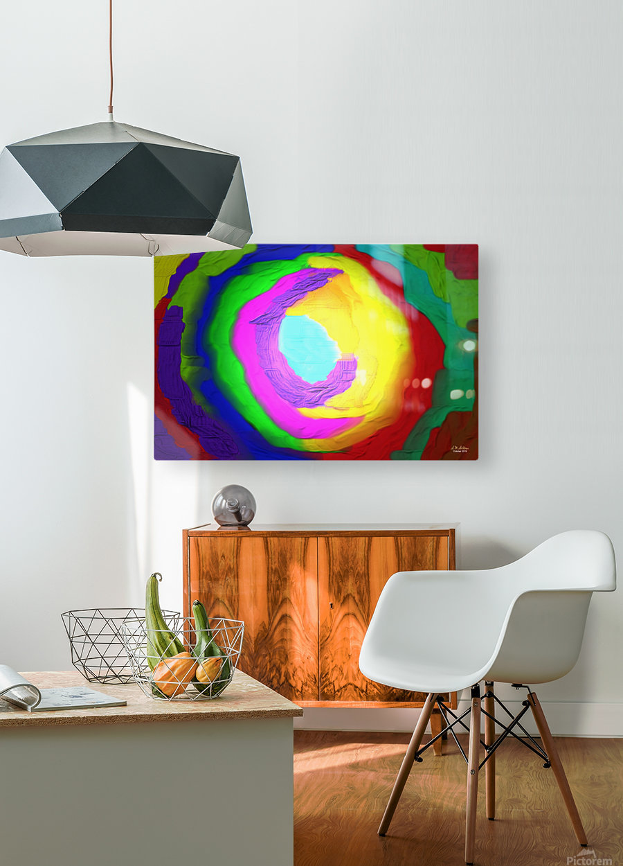 1-Beautiful Color Chaos 1  HD Metal print with Floating Frame on Back