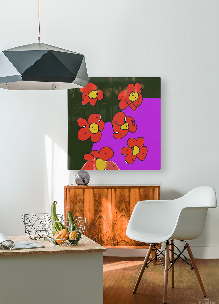 Flowers   HD Metal print with Floating Frame on Back
