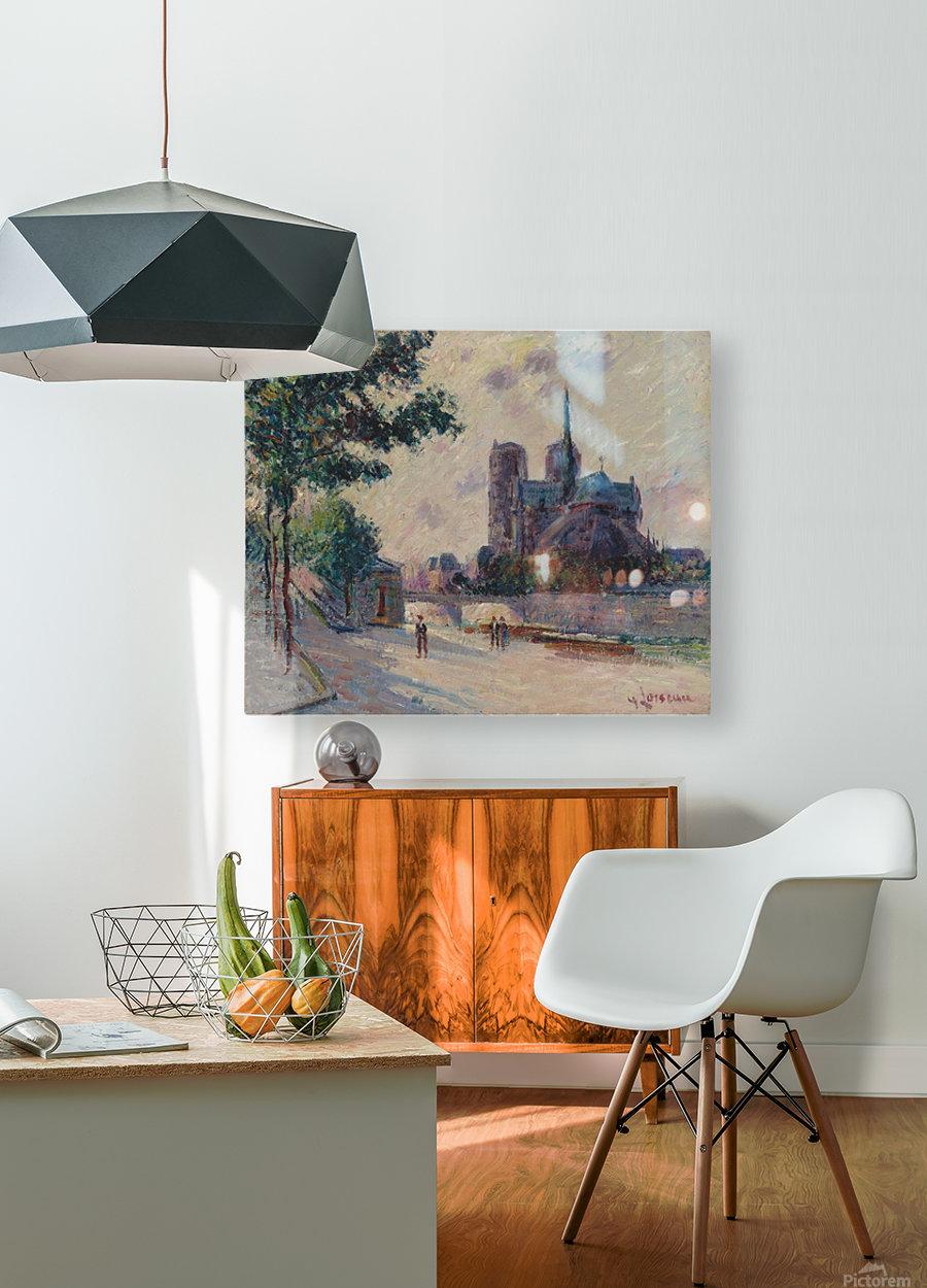 Notre-Dame de Paris  HD Metal print with Floating Frame on Back