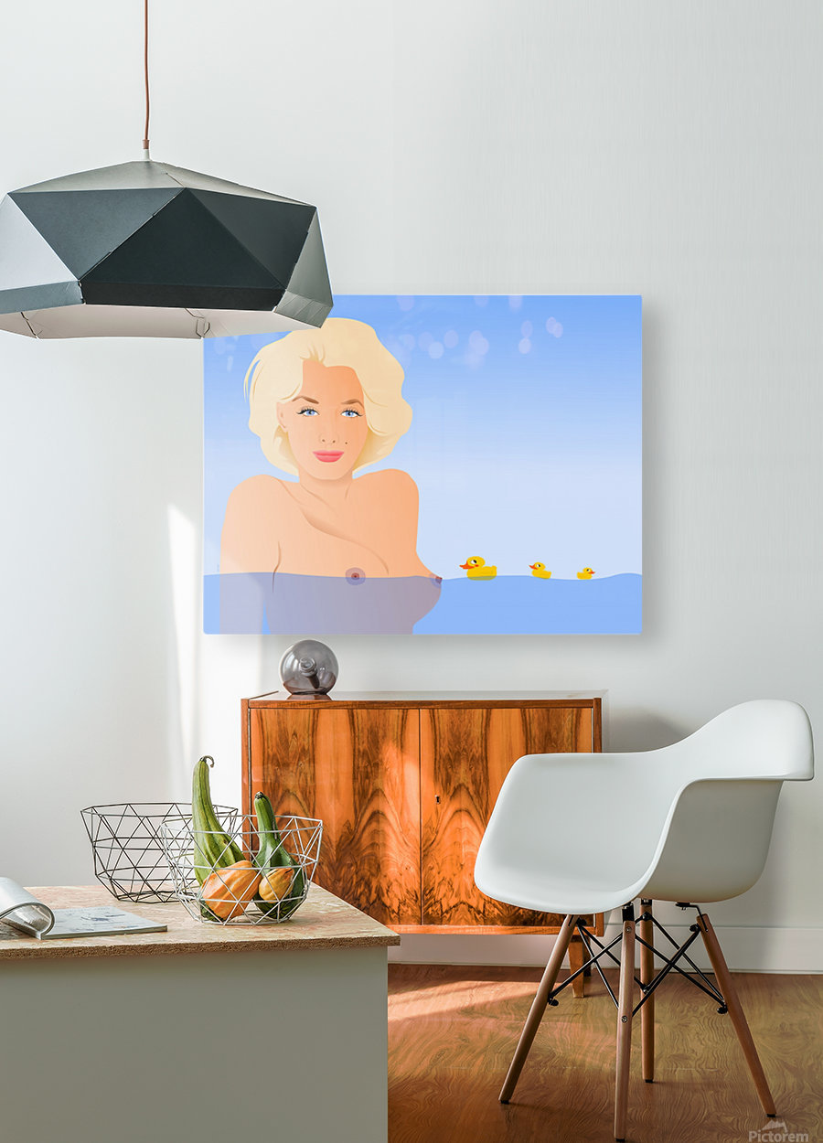 MARILYN  HD Metal print with Floating Frame on Back