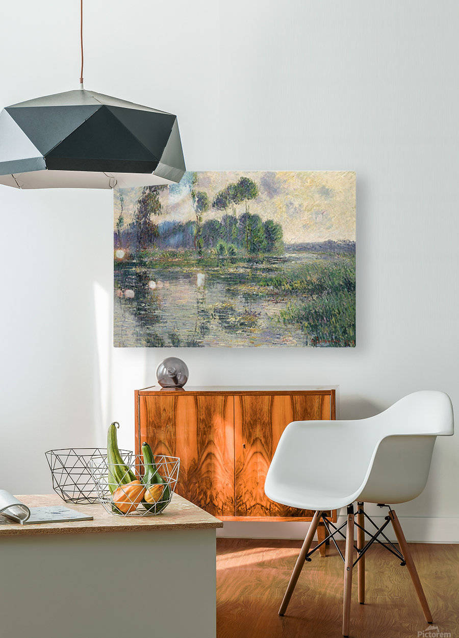 The Banks of the Eure, Saint-Cyr-du-Vaudreuil  HD Metal print with Floating Frame on Back