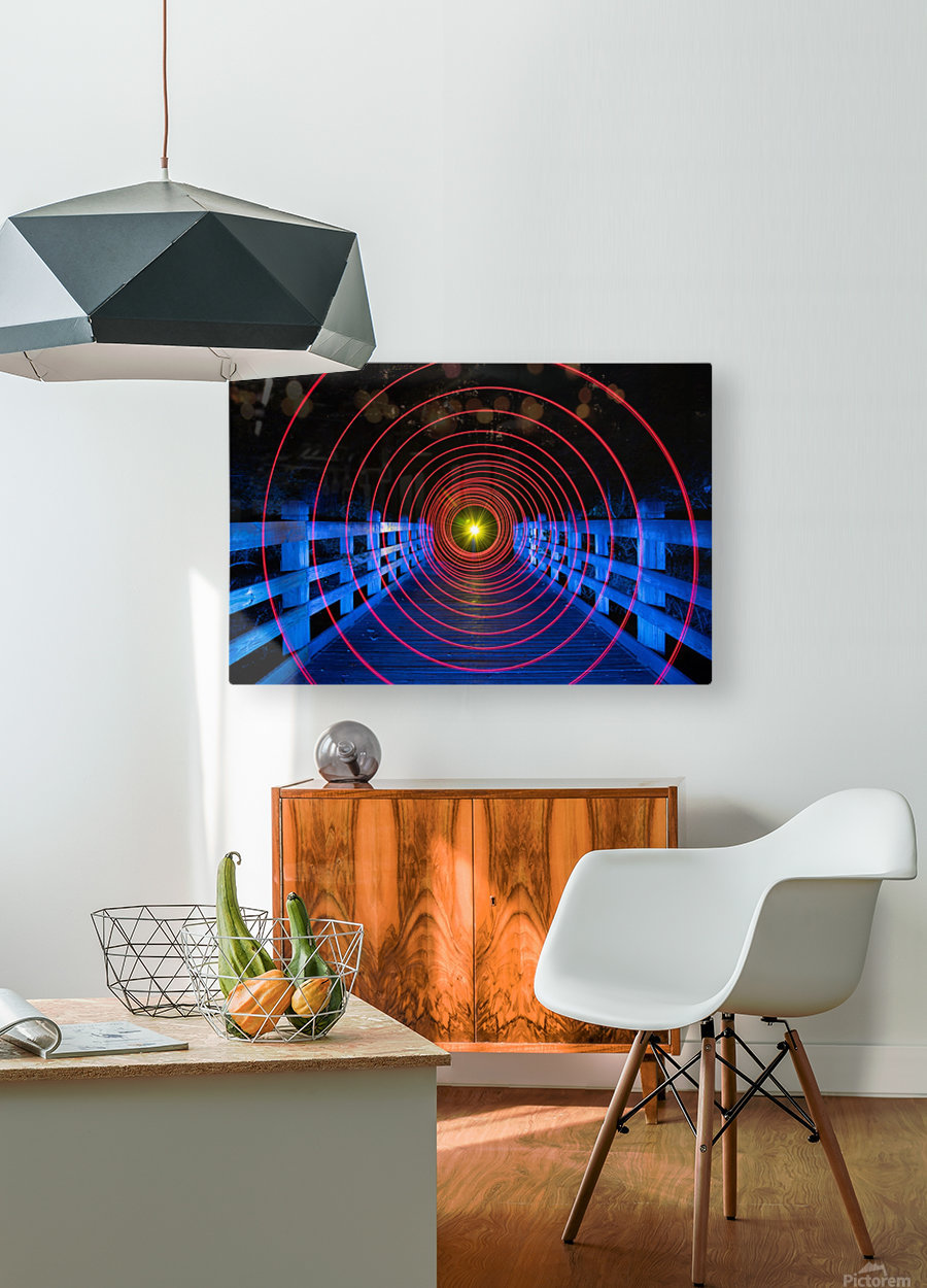 Space-Time Anomaly  HD Metal print with Floating Frame on Back