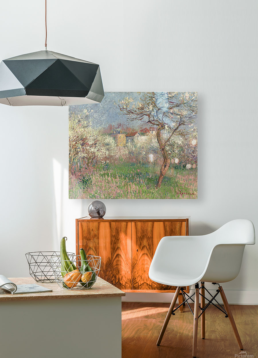 Spring, Outskirts of Pontoise  HD Metal print with Floating Frame on Back