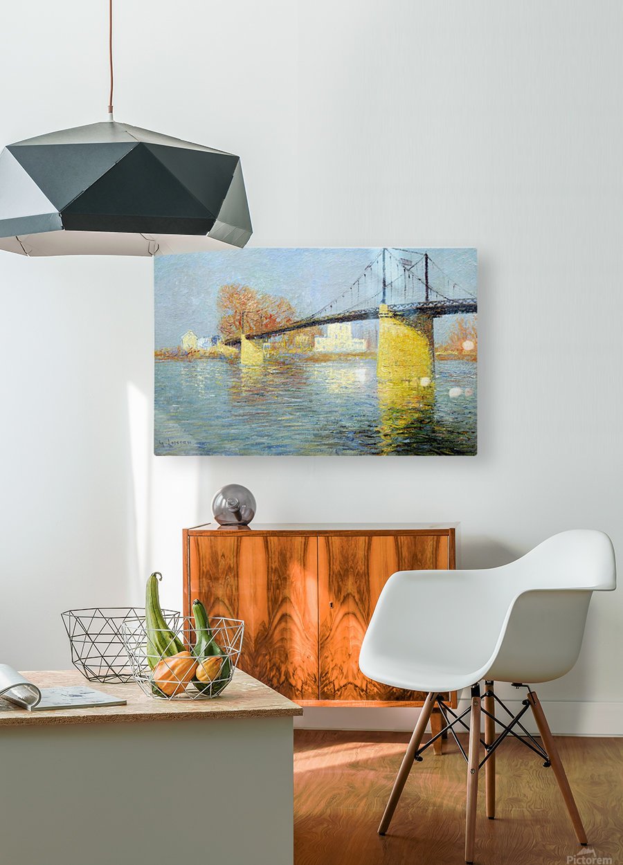 The Banks of the Seine, Triel  HD Metal print with Floating Frame on Back