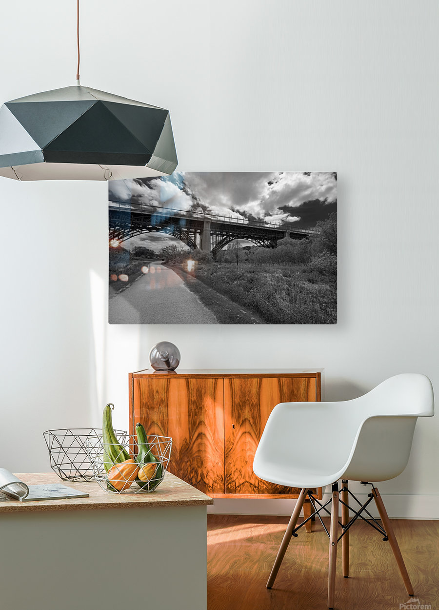 The bridge  HD Metal print with Floating Frame on Back