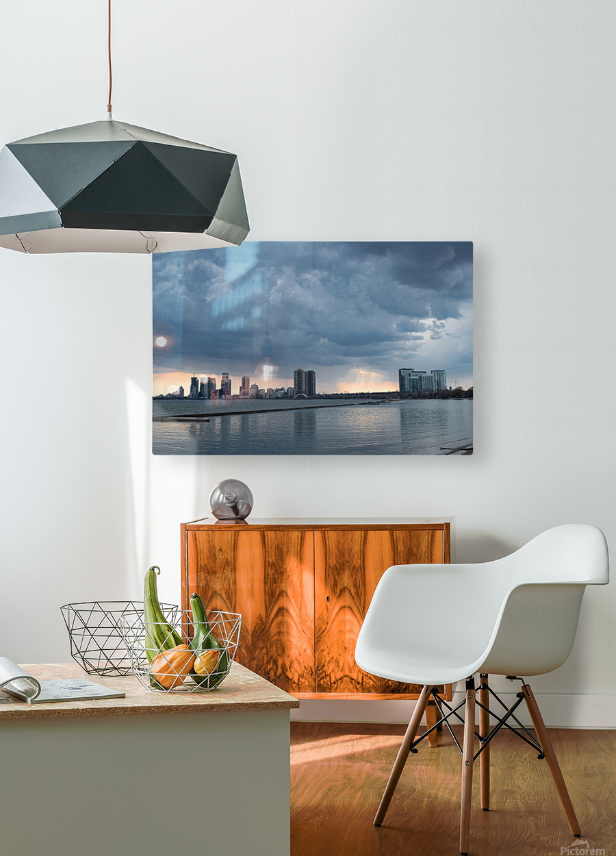 City at Ontario Lake  HD Metal print with Floating Frame on Back