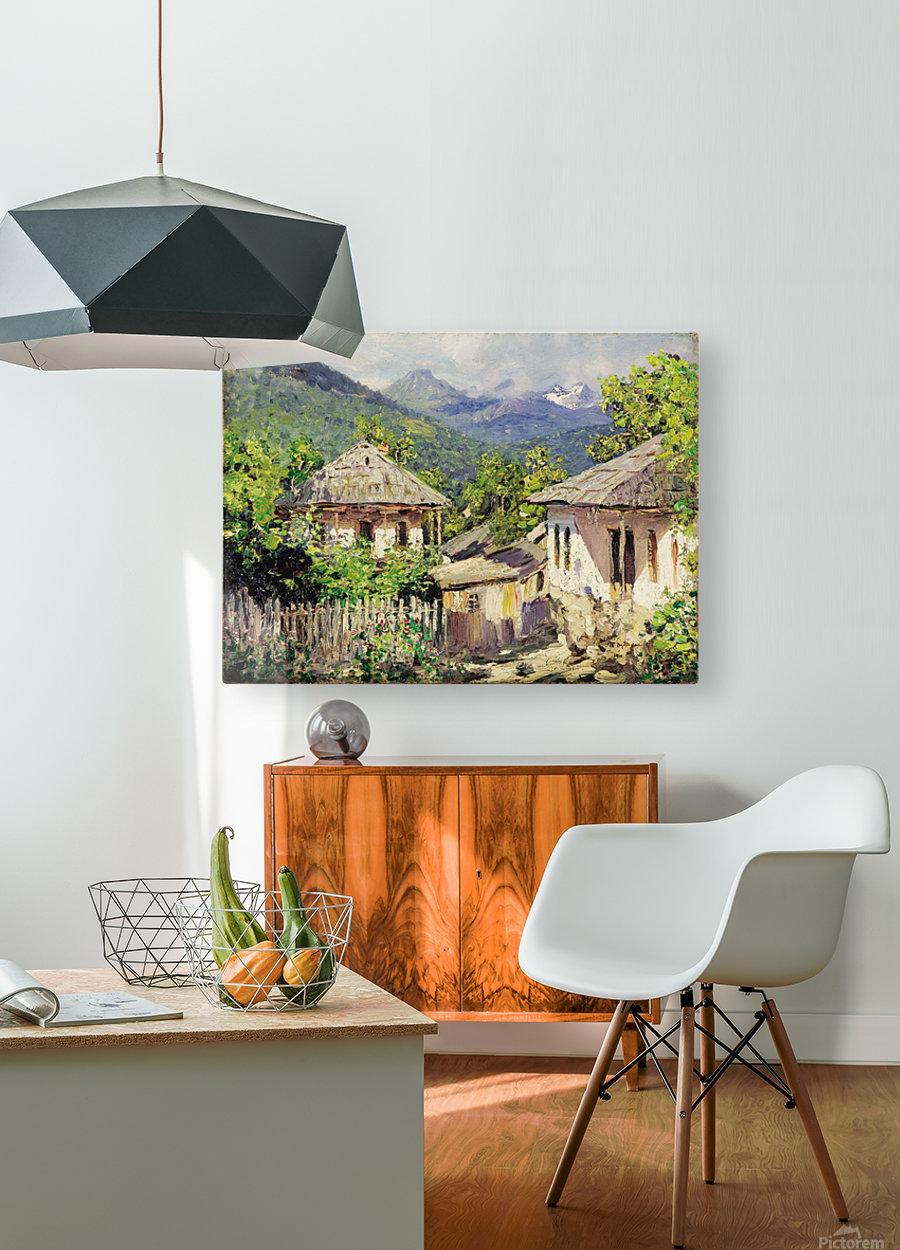 Village Scene  HD Metal print with Floating Frame on Back