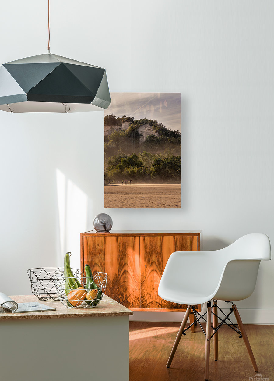 Hot day at the Bluffs  HD Metal print with Floating Frame on Back