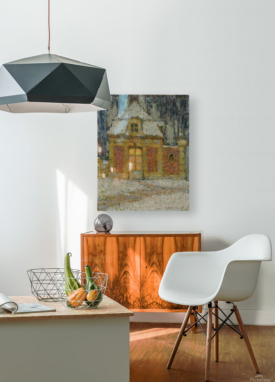 Snow, Versailles  HD Metal print with Floating Frame on Back