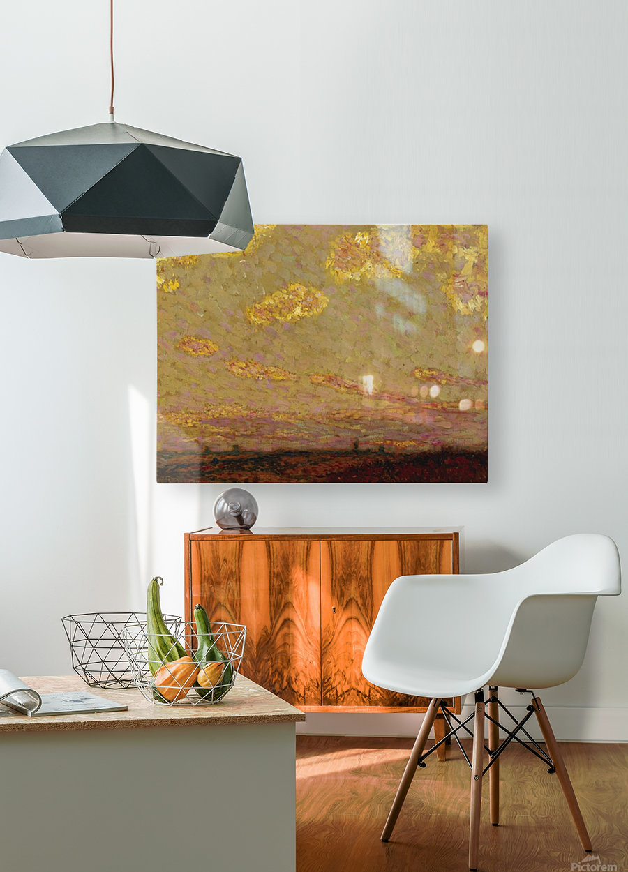 Sunset at Gerberoy  HD Metal print with Floating Frame on Back