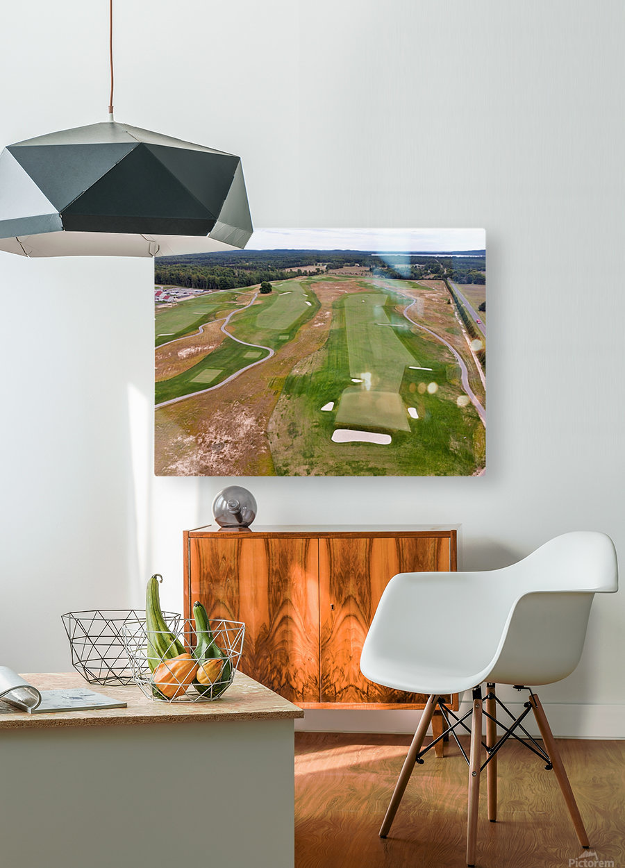 Arcadia Bluffs South Course back nine Par 5s  HD Metal print with Floating Frame on Back