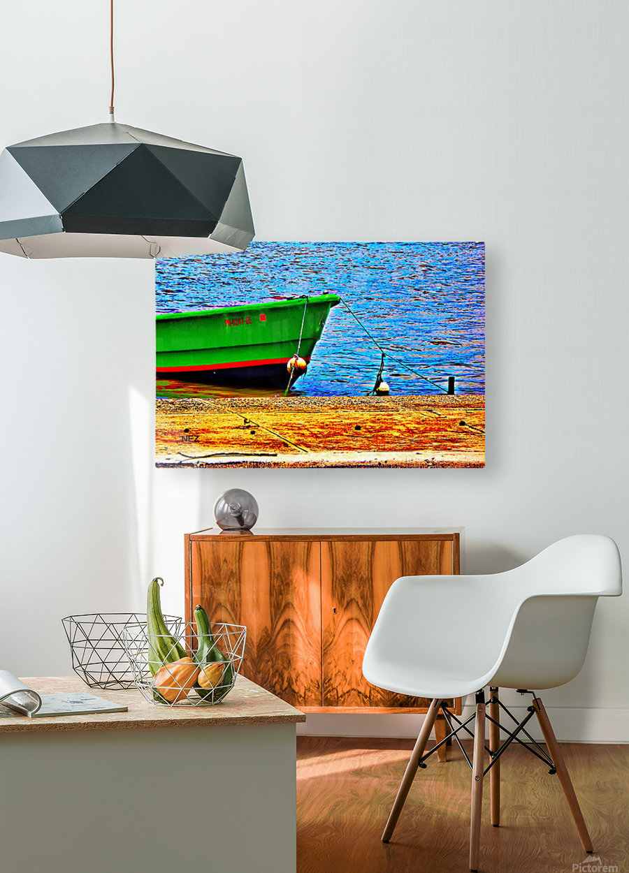 Blue Waters  HD Metal print with Floating Frame on Back
