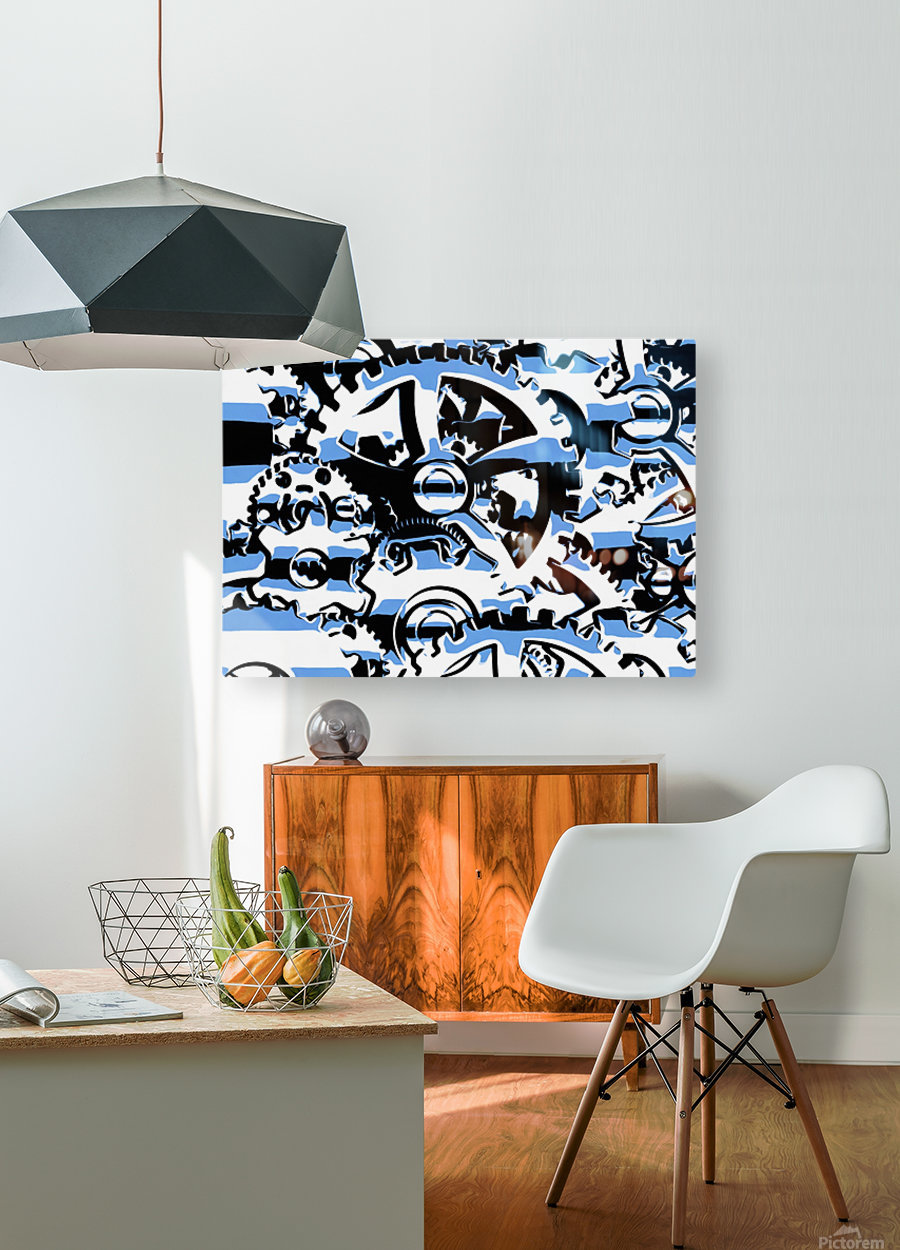 Gears  HD Metal print with Floating Frame on Back