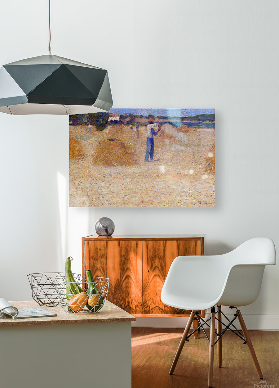 The Reapers of the Wheat  HD Metal print with Floating Frame on Back